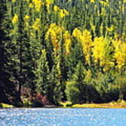 Colorado Mountain Lake In Fall Art Print