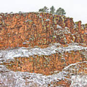 Colorado Red Sandstone Country Dusted With Snow Art Print