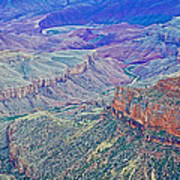 Colorado River From Walhalla Overlook On North Rim Of Grand Canyon-arizona Art Print