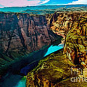 Colorado River Grand Canyon Art Print