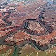 Colorado River Meanders Through Canyonlands National Park In Uta Art Print
