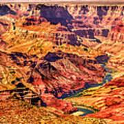Colorado River 1 Mi Below 100 Miles To Vermillion Cliffs Utah Art Print