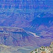 Colorado River Two At Cape Royal On North Rim Of Grand Canyon-arizona Art Print