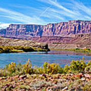 Colorado River Upstream From Boat Ramp At Lee's Ferry In Glen Canyon National Recreation Area-az Art Print