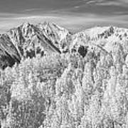 Colorado Rocky Mountain Autumn Beauty Bw Art Print