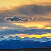 Colorado Rocky Mountain Front Range Sunset Gold Art Print