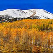 Colorado Rocky Mountain Independence Pass Autumn Pano 2 Art Print
