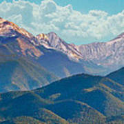 Colorado Sideroad Mountains Art Print