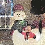 Colorado Snowman Family 1 12 2011 Art Print