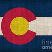 Colorado State Flag Art Print by Pixel Chimp