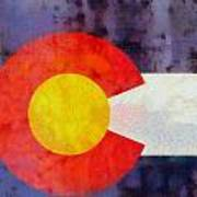 Colorado State Flag Weathered And Worn Art Print