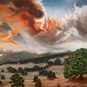 Colorado Wildfire-fern Lake Art Print