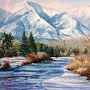 Colorado Winter On The Arkansas River Art Print