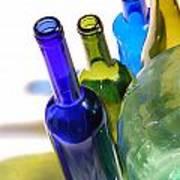 Colored Bottles Art Print