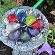 Colored Glass Shells Art Print
