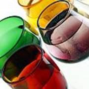 Colored Glasses At An Angle Art Print