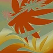 Colored Jungle Orange Splash Art Print