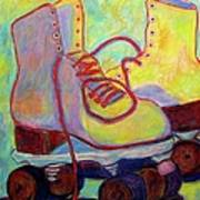 Colored Lights All Over My Skates Art Print