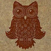Colored Owl 2 Of 4  Art Print