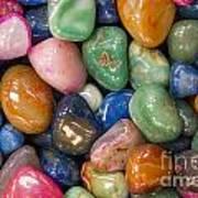 Colored Polished Rocks Art Print