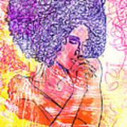 Colored Woman Art Print by Kenal Louis