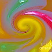 Marble Jelly Swirl Art Print