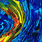 Colorful Abstract Art - Energy Flow 2 - By Sharon Cummings Art Print