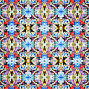 Colorful Angles Pattern Art Print