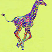 Colorful Baby Giraffe Art Print