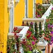 Colorful Balconies Art Print