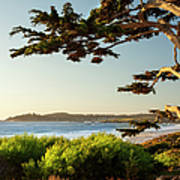 Colorful Beachfront In Carmel-by-the-sea Art Print