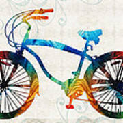 Colorful Bike Art - Free Spirit - By Sharon Cummings Art Print