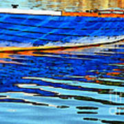 Colorful Boat On The Water Art Print