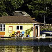 Colorful Boathouse Art Print