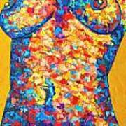 Colorful Bodyscape 1 Art Print