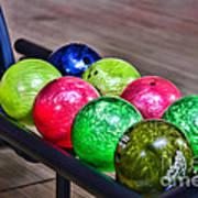 Colorful Bowling Balls Art Print