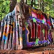 Colorful Box Car In The Forest Art Print