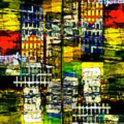 Colorful City Scene Art Print