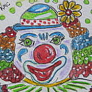 Colorful Clown Art Print