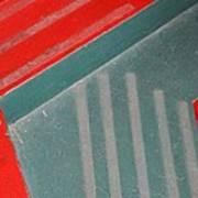 Colorful Concrete Steps Art Print
