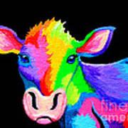 Colorful Cow-cow-a-bunga Art Print by Nick Gustafson