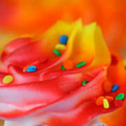 Colorful Cup Cake Art Print