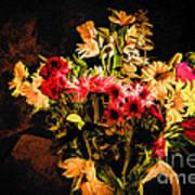 Colorful Cut Flowers - V3 Art Print