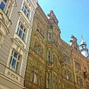 Colorful Czech Buildings II Art Print