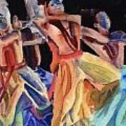 Colorful Dancers Art Print