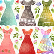 Colorful Dresses Art Print