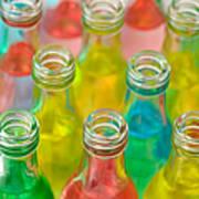 Colorful Drink Bottles Art Print