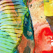 Colorful Elephant Art By Sharon Cummings Art Print by Sharon Cummings