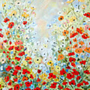 Colorful Field Of Poppies Art Print