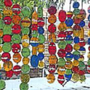 Colorful Fishing Floats Art Print
